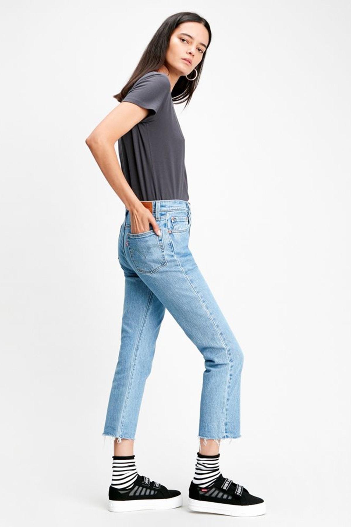 Levi's Kadın Mavi Yüksek Bel Pamuklu 501 Jeans 362000096 1