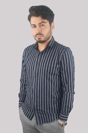 Mcr 37282 Erkek Mavi Slim Fit Model Uzun Kollu Gömlek
