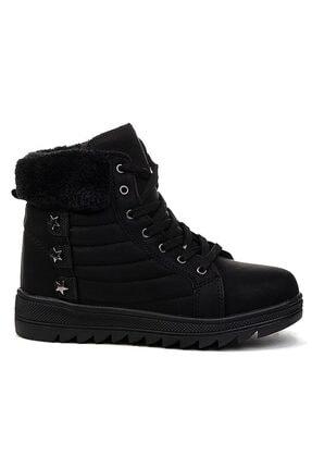 Twingo 9017 Siyah Içi Termal Kürklü Bayan Bot Ayakkabı