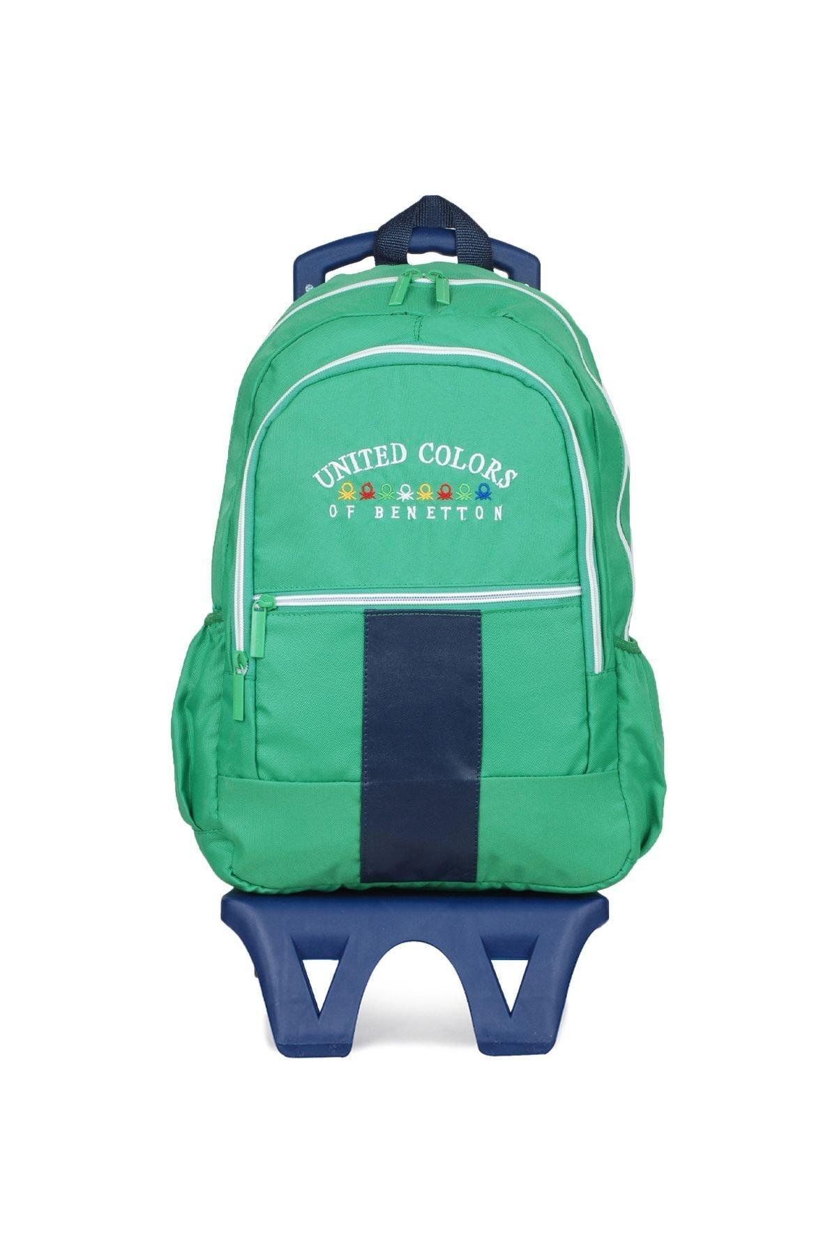 United Colors of Benetton Unisex Benetton Iki Bölmeli Tekerlekli Sırt Çantası 70060 1