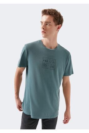 Mavi Black Pro Baskılı Yeşil Tişört