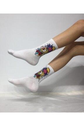 ADEL ÇORAP Unisex Beyaz Kokulu Kolej Çorap