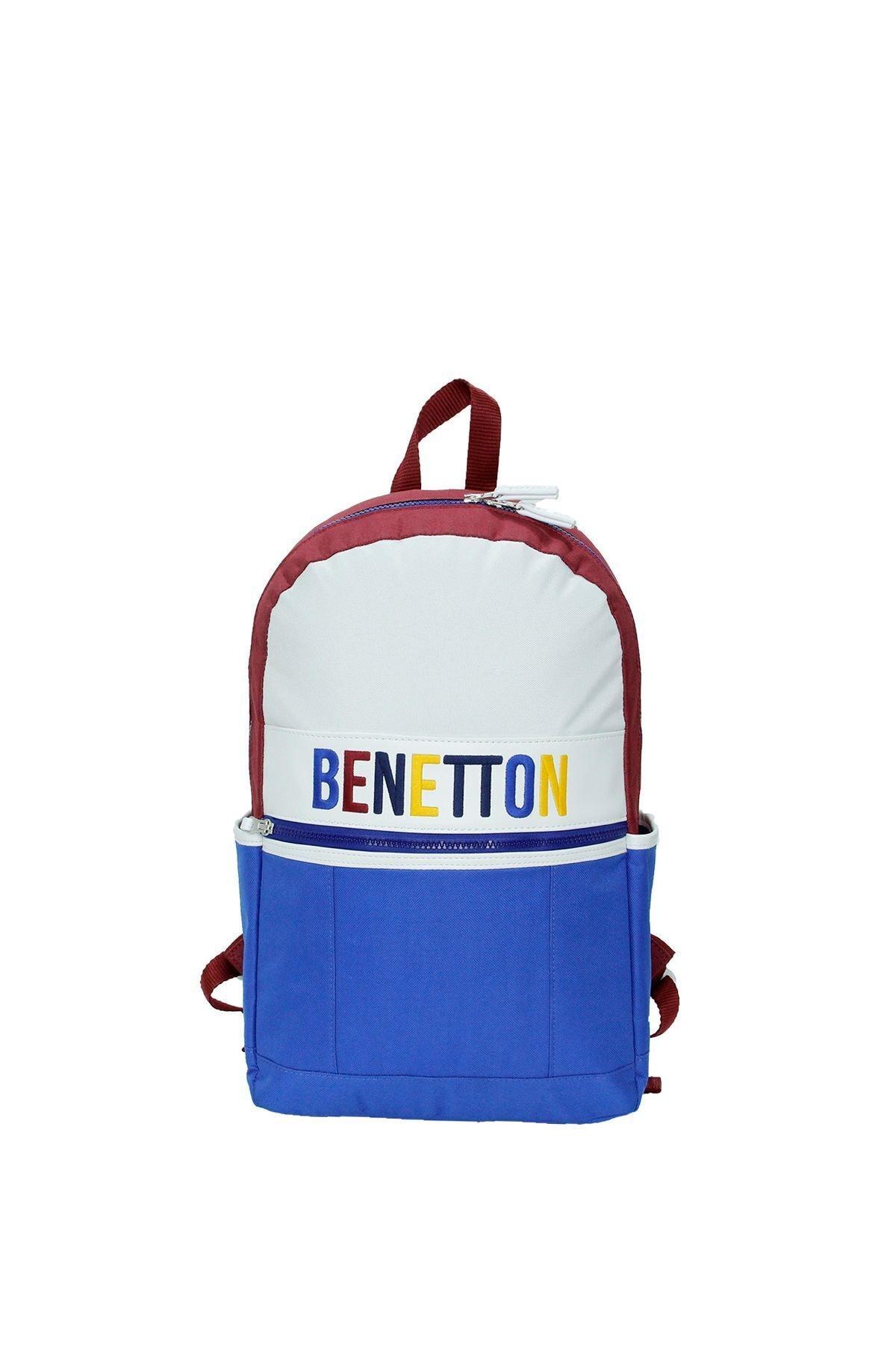 United Colors of Benetton Unisex Mavi Ön Cepli Sırt Çantası 70062 1