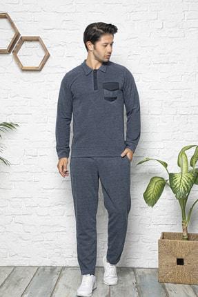 BİRŞEN Erkek Selanik Kumaş Kışlık Pijama Takımı
