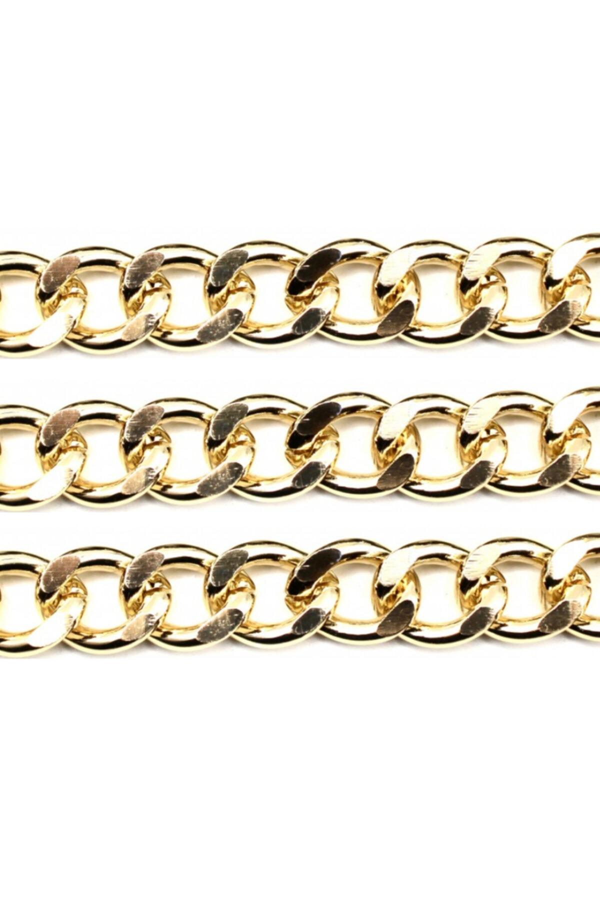 TahtakaleToptancıları Alüminyum Çanta Ve Takı Zinciri 10 mm 1 mt Altın 1