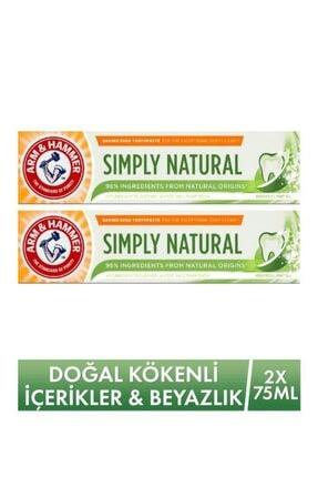 Arm&Hammer Doğal Kökenli Içerikler & Beyazlatıcı Diş Macunu - Simply Natural Toothpaste 75ml X 2