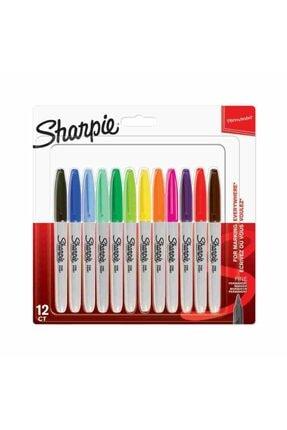 Sharpie Fine Permanent Markör, 12'li Karışık Sıcak Renkler