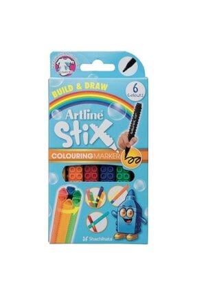artline Artlıne Stıx Etx-300/6wk Colourıng Marker 6'lı