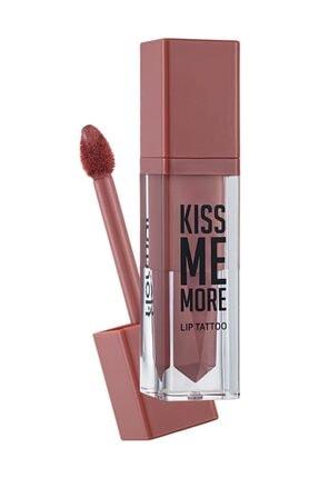 Flormar Likit Mat Ruj - Kiss Me More Lip Tattoo Peach 8690604572847