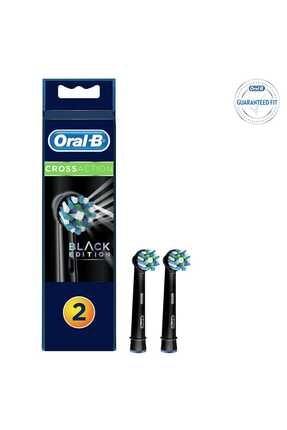 Oral-B Diş Fırçası Yedek Başlığı Cross Action Siyah - 2'li