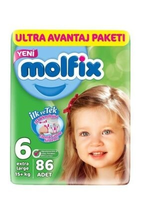 Molfix 3d Ultra Avantaj 6 Numara 86'Lı