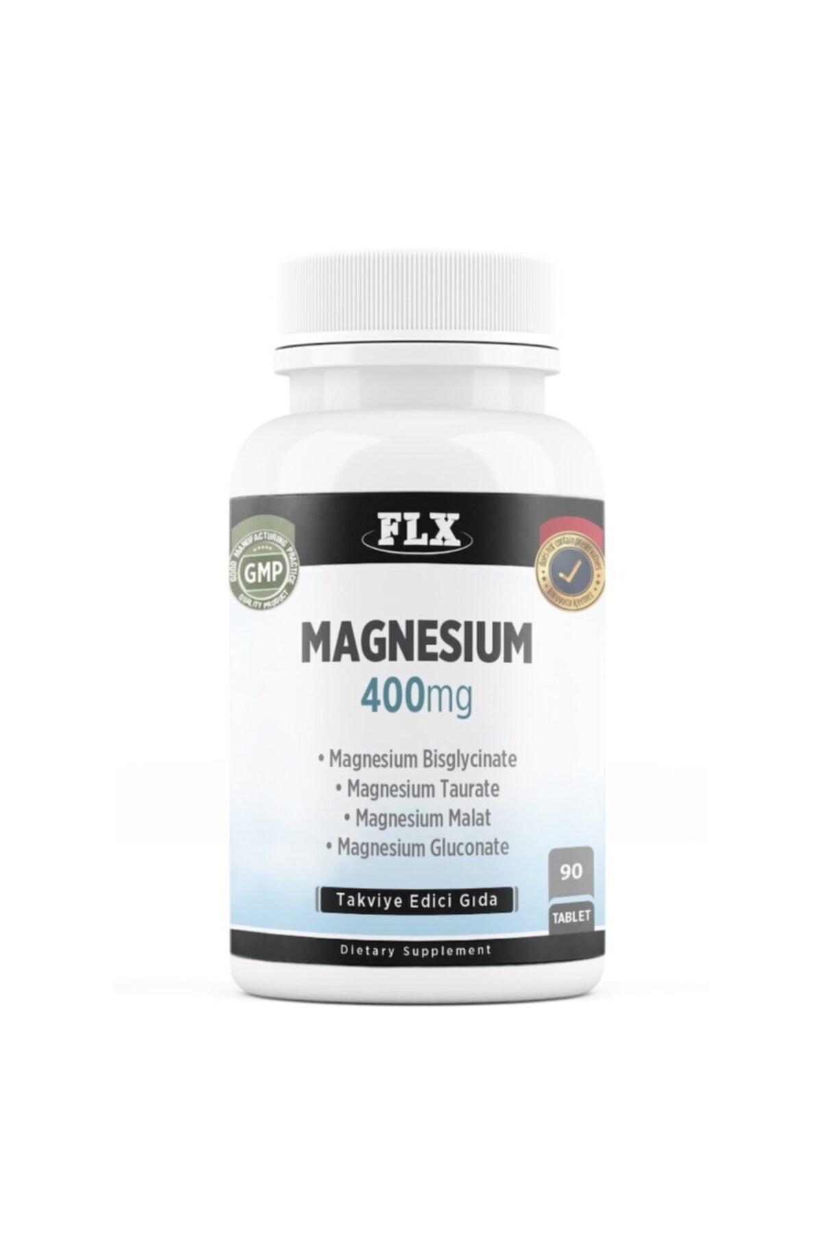 FLX Magnesium Bisglisinat Malat Taurat Glukonat Magnezyum Complex 90 Tablet 1