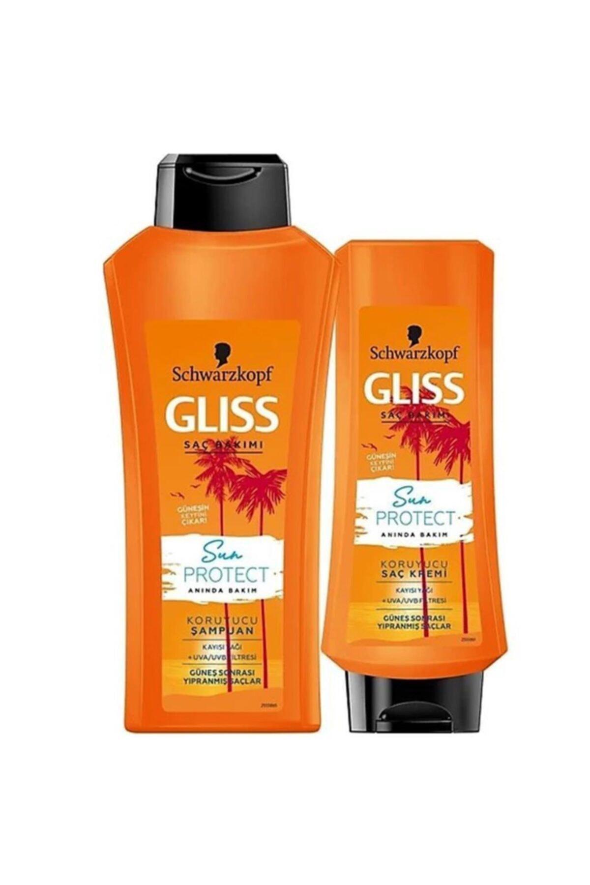 Gliss Schwarzkopf Saç Kremi+şampuan 360 Ml.2'li (güneş Sonrası Yıpranmış Saçlar) 1