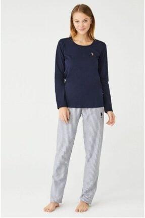 U.S. Polo Assn. U.s Polo Lacivert Bayan Pijama Takımı 16413