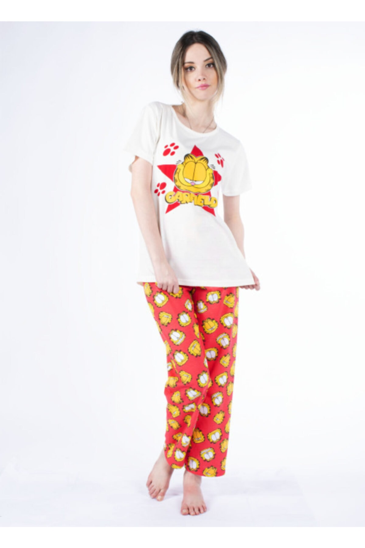 Vision Kadın Kırmızı Pijama Takımı 1
