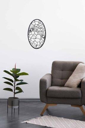 Marstanal Oval Lazer Kesim Çiçek Desenli Mini Pano - Tablo 39x23