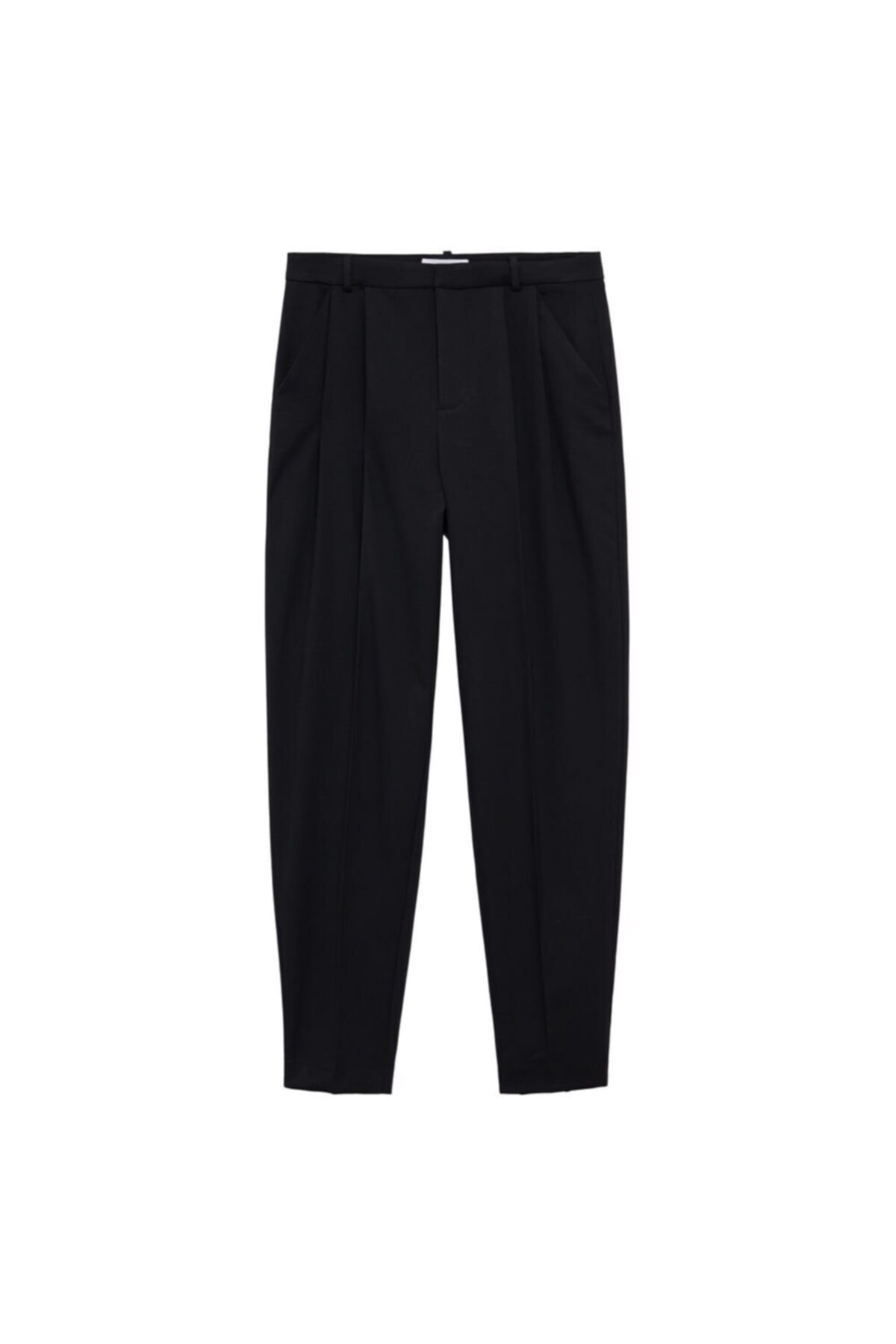 MANGO Woman Kadın Siyah Cepli Pantolon 2