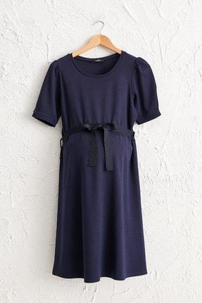 LC Waikiki Kadın Lacivert Elbise 0WEN84Z8