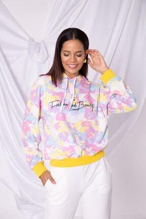 Zafoni Kadın Sarı Sweatshirt