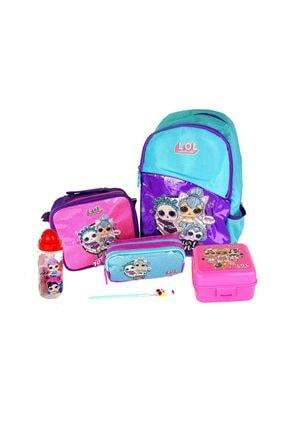 Dönmezler Lol Okul Başlangıç Set 6 Parça-çanta-beslenme Çan.-beslenme Kabı-kalem Kutu-suluk Ve Kalem