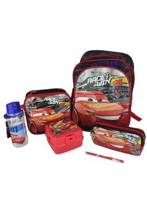 Hakan Çanta Cars Şimşek Mac Queen Okul Seti-çanta-beslenme-bes.kabı-kalemlik-suluk-kalem