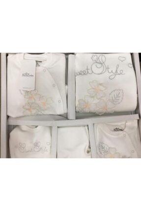 Aziz Bebe Kız Bebek Çiçek Desen 10'lu Hastane Çıkış Seti