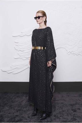 Arzu Kaprol Kadın Siyah Asimetrik Kesim Elbise