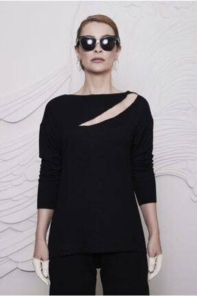 Arzu Kaprol Kadın Siyah Uzun Kollu Triko Bluz