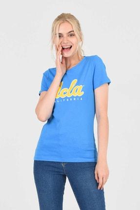 UCLA TRACY Mavi Bisiklet Yaka Kadın T-shirt