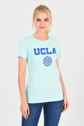 UCLA Mint Bisiklet Yaka Kadın T-shirt