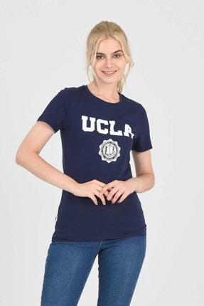 UCLA MOJAVE Lacivert Bisiklet Yaka Kadın T-shirt