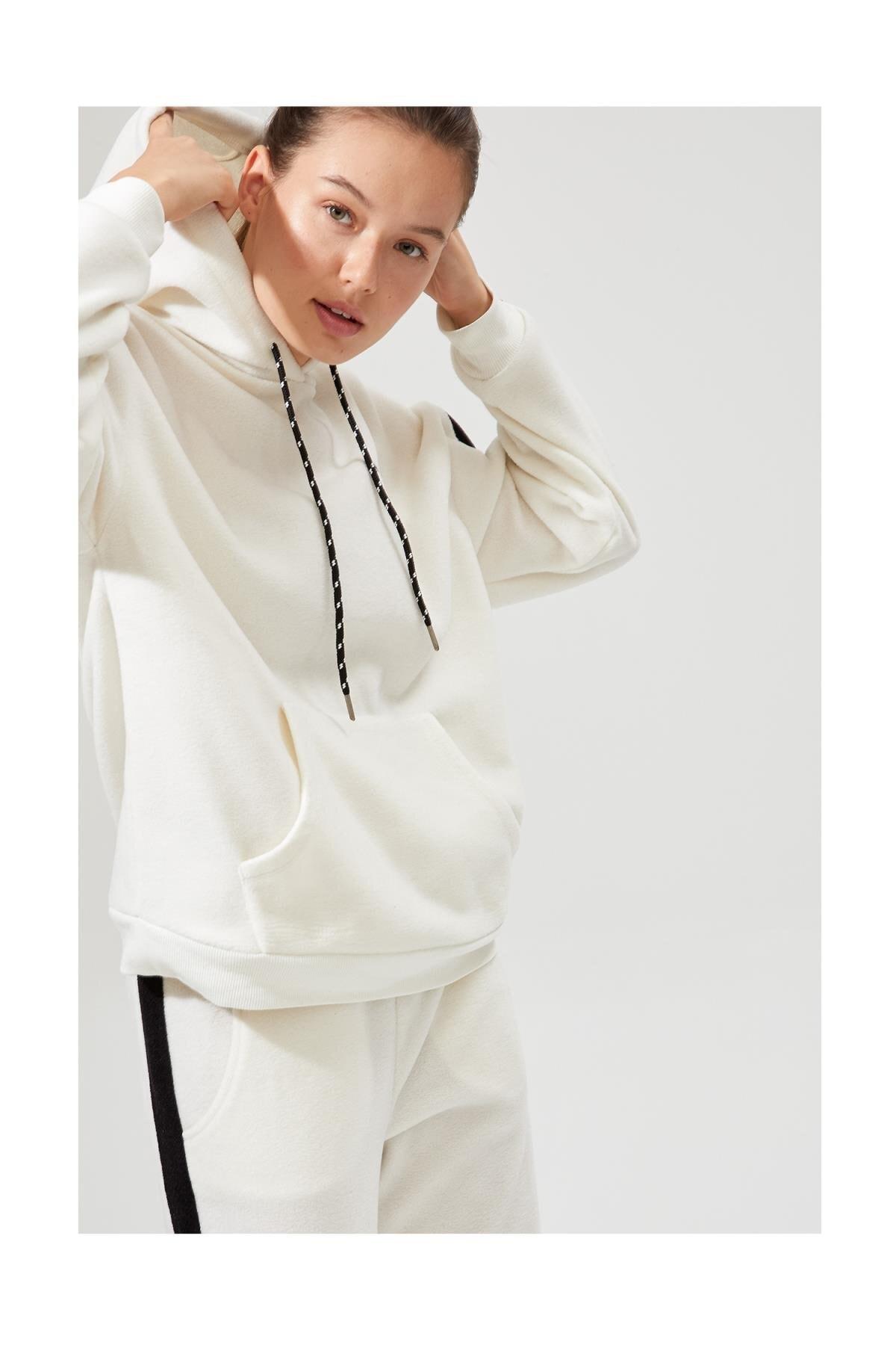 DeFacto Fit Şerit Detaylı Polar Sweatshirt