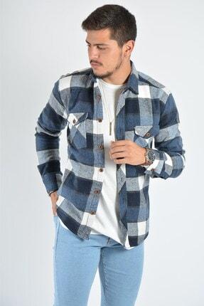 Terapi Men Erkek Kareli Oduncu Gömleği 20k-4300557 Mavi