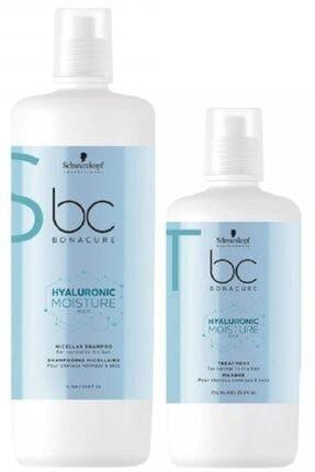 SCHWARZKOPF HAIR MASCARA Bonacure Hyaluronic Nem Yükleme Micellar Şampuan 1000ml + Bakım Kürü 750ml