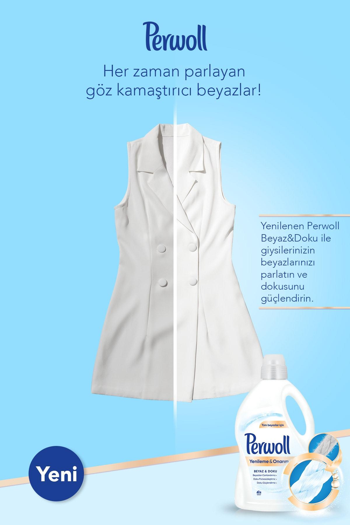 Perwoll Hassas Bakım Sıvı Çamaşır Deterjanı 4 x 3L (200 Yıkama) Siyah + Renkli + Bakım Onarım + Beyaz 2