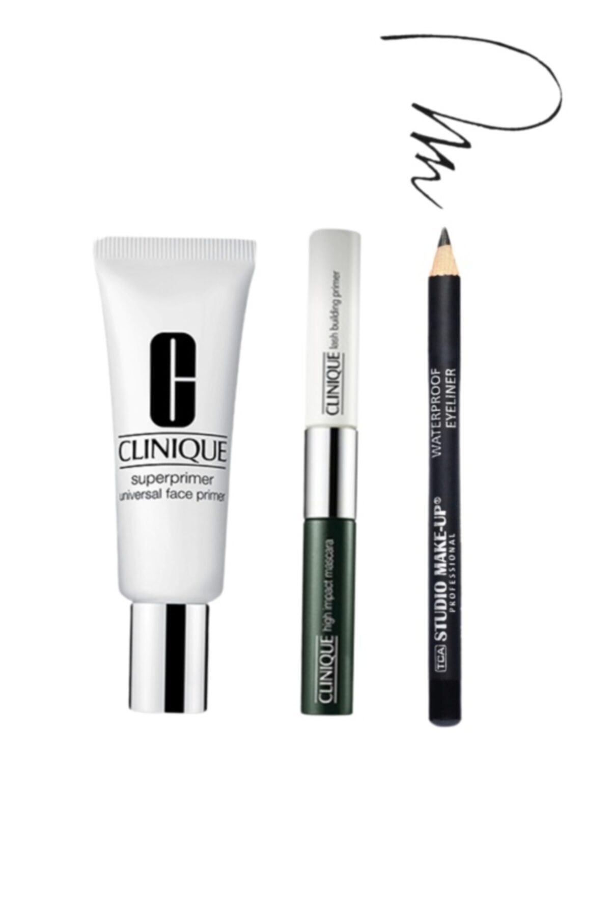 Clinique Superprimer Makyaj Bazı + High Impact Primer & Maskara + Tca Eyeliner 1