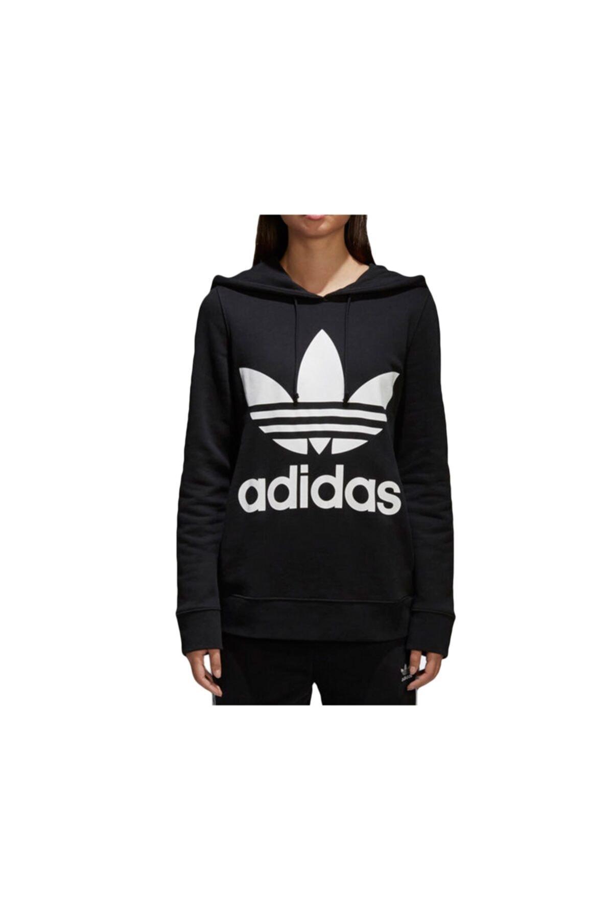 adidas Kadın Siyah Ce2408 Trefoıl Hoodıe Sweatshirt 1
