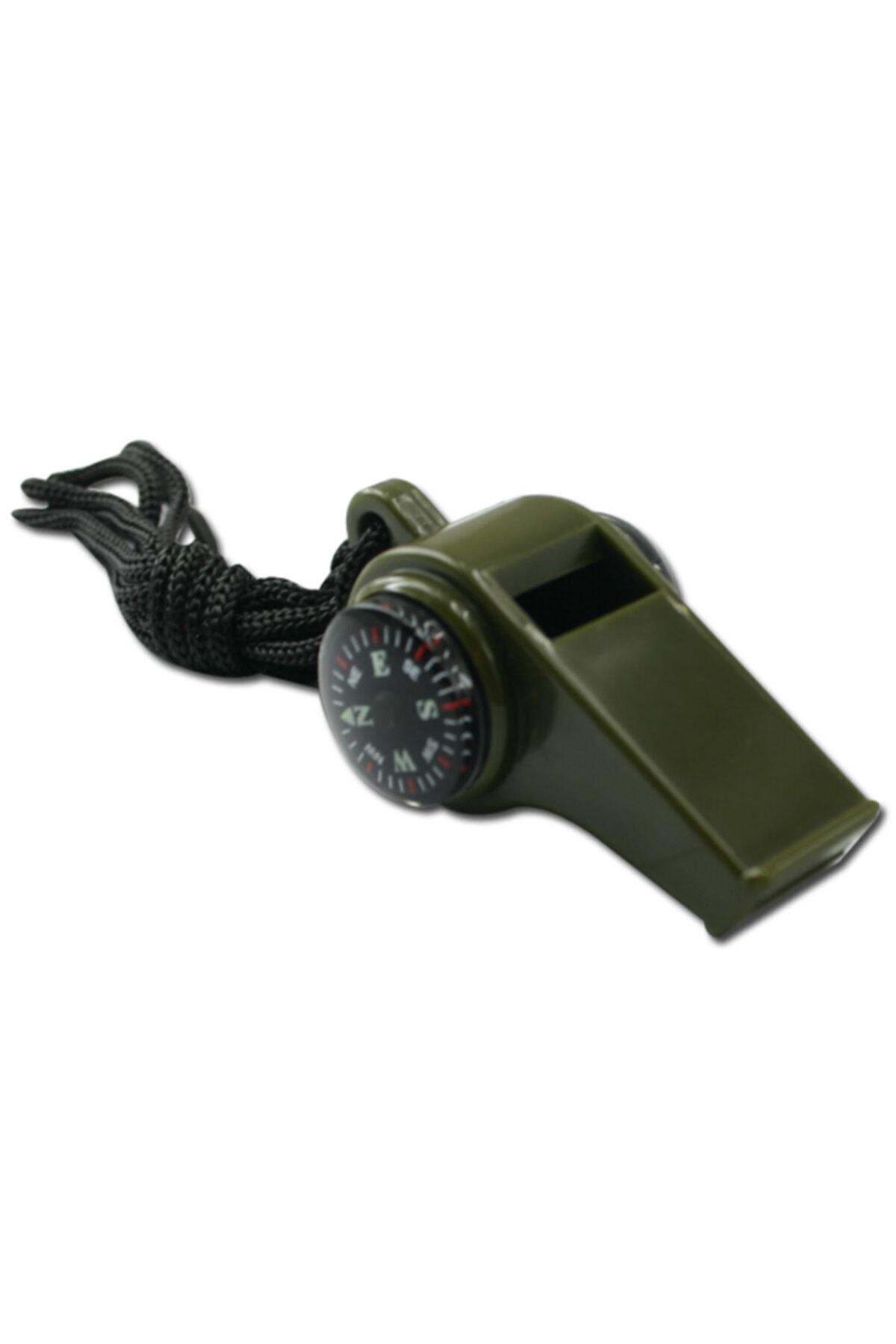 rennway Haki Pusulalı Termometreli Survival Askılı Düdük 1