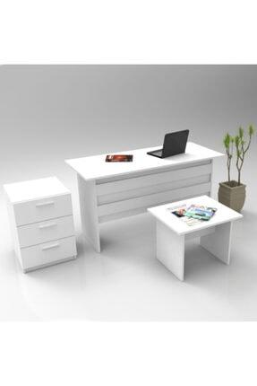 Robin Home Ofis Büro Masa Takımı Ofis Masası + Keson + Ofis Sehpası