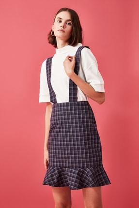 TRENDYOLMİLLA Lacivert Askılı Jile  Elbise TWOAW21EL1936