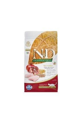 N&D Düşük Tahıllı Tavuk Ve Narlı Kısırlaştırılmış Kedi Maması 1,5 Kg