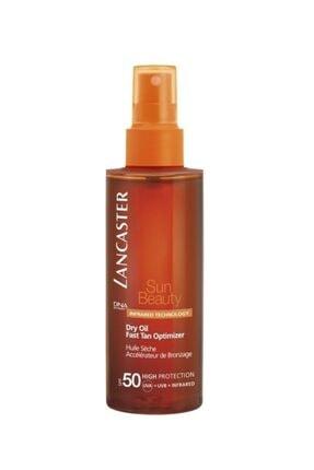 Lancaster Sun Beauty Satin Sheen Oil Fasttan Optimizer Spf50 150ml
