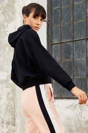 Tommy Life Kadın Lacivert Klasik Kapüşonlu Sweatshirt