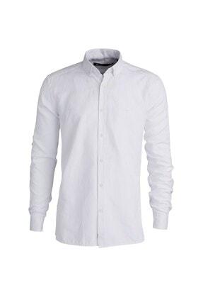 Bad Bear Oxford Shırt Os Beyaz Düğmeli Gömlek