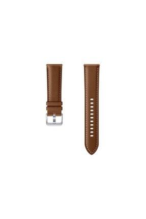 Samsung Galaxy Watch Active 3 (45mm) Deri Kayış - Kahverengi