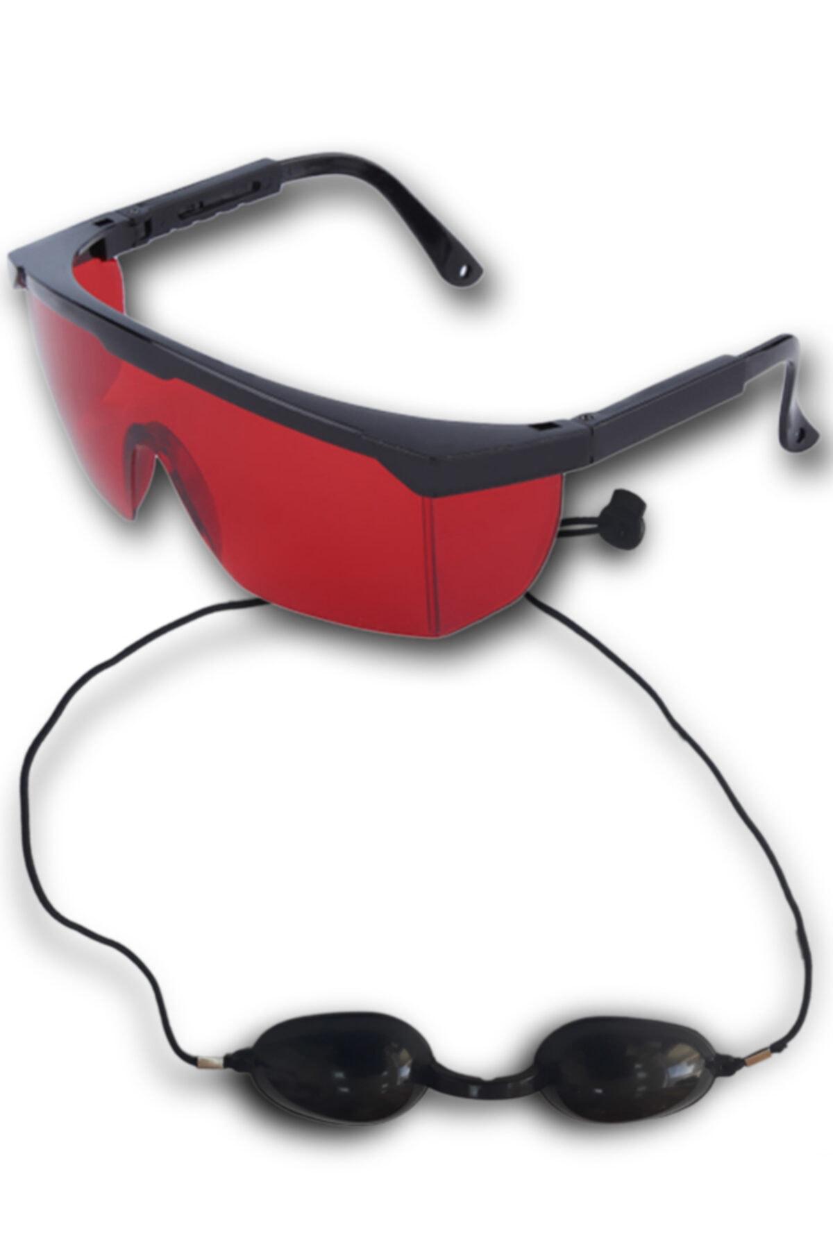 ARMONİKONYA 2 Gözlük Lazer Epilasyon Estetisyen Kırmızı Ipl Hasta Siyah Ipl Gözlük Koruyucu Ipl Gözlüğü 1