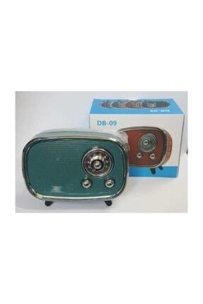 JUNGLEE Db-09 Mini Retro Style Bluetooth Hoparlör Fm Radyo Sd Kart Ve Usb Girişli Speaker Yeşil