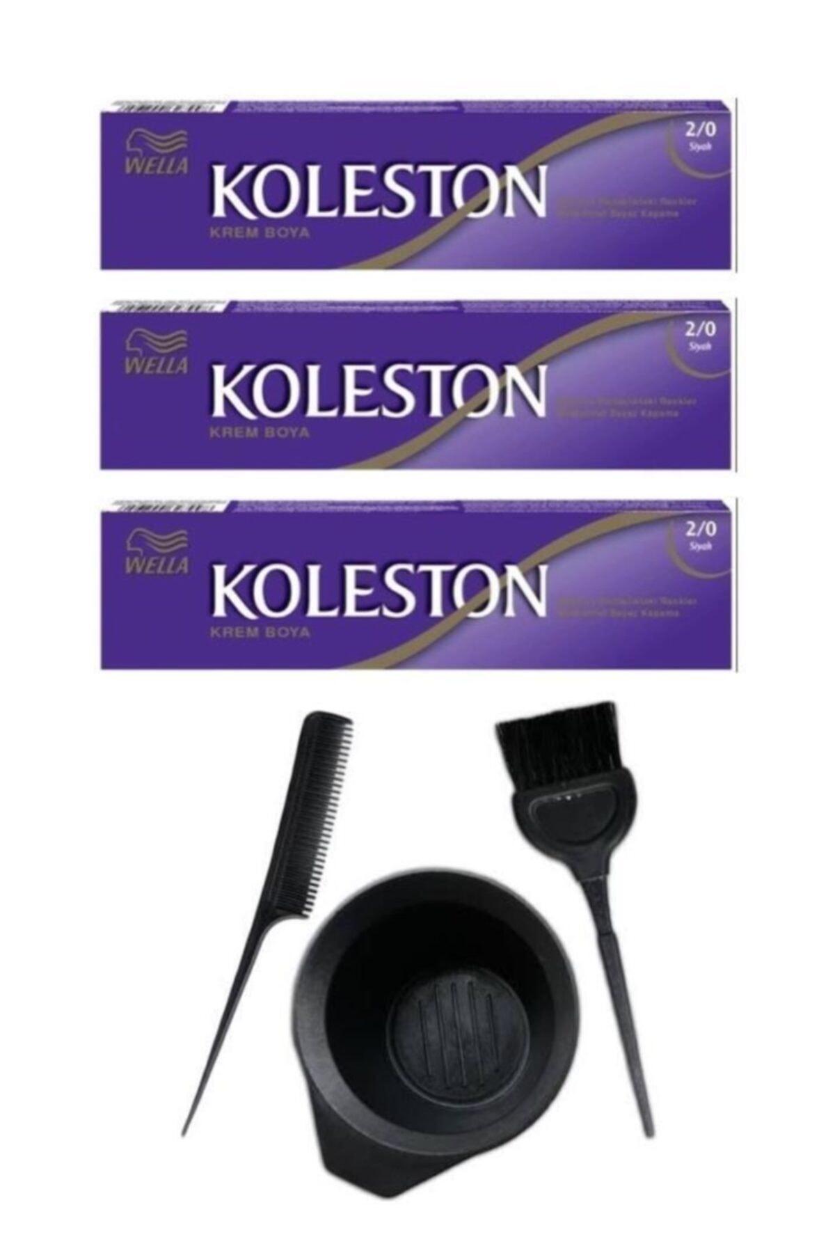 Koleston Tüp Saç Boyası 2.0 3 Adet + Saç Boyama Seti 1