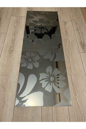 Çelik Cam Dekorasyon Dekoratif Çiçek Desenli Füme Ayna