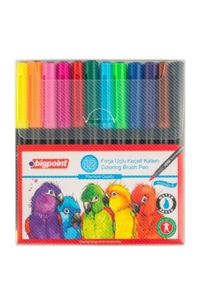 Bigpoint Fırça Uçlu Keçeli Kalem 12'li Set